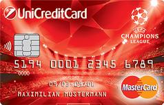 Кредитка Mastercard UEFA Champions League ЮниКредит Банка
