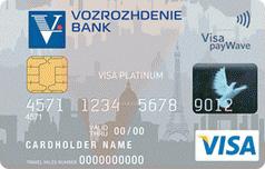 Дебетовая карта Visa Platinum банка Возрождение