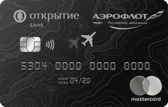 Дебетовая карта Аэрофлот от банка Открытие